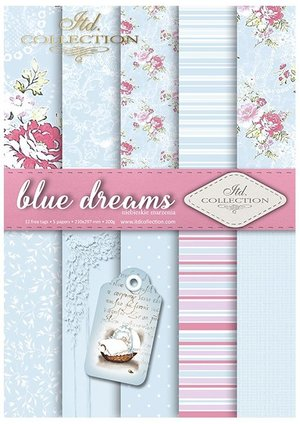 Scrapbooking papers SCRAP-041 ''blue dreams''