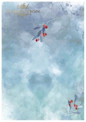 Scrapbooking papers SCRAP-049 ''Christmas in blue''