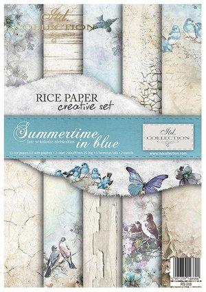 Rispapper creative set  Summertime in blue RS008