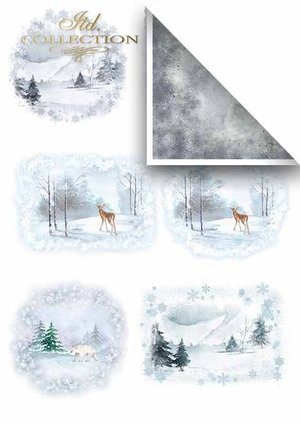 Scrapbooking papers SCRAP-019 ''Winter''
