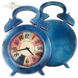 HDF019 Little Alarm clock-Frame 30 cm x 21 cm  2delar
