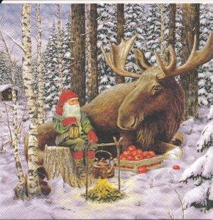 Jultomte och älgen   sej1043