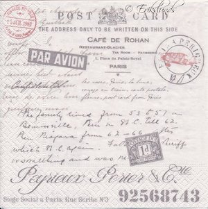 Post Card Cafe de Rohan  9036