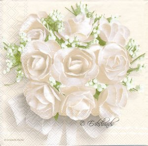 Vita rosor och liljenkonvaljer  8178