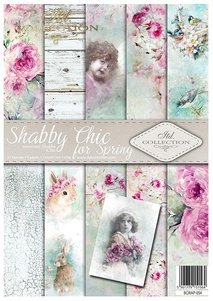 Scrapbooking papers SCRAP-054 ''Shabby Chic for Spring''