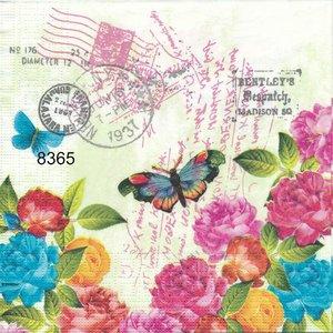 Blommor och fjärilar  8365