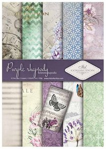Scrapbooking papers SCRAP-013 ''Purple rhapsody''