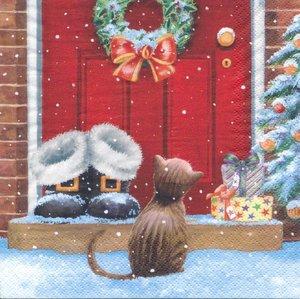 Kissemiss vid juldörr