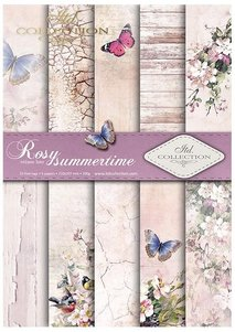 Scrapbooking papers SCRAP-045 ''Rosy summertime''