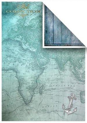 Scrapbooking papers SCRAP-047 ''Seafaring adventure''