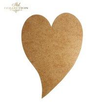 HDF015 * Heart-Frame 25,5 cm x 17,5 cm  enkel.3mm tjock