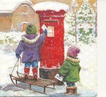 Barn postar julkort