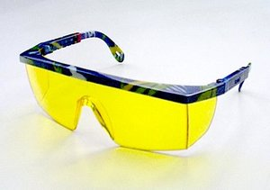 Safety glasses UV-9204 marble. Amber
