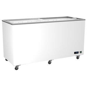 Frysbox, 400 Liter med glidande glaslock