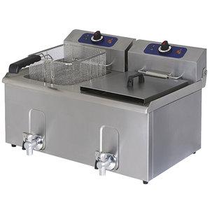 Fritös 10 + 10 Liter, 13,2 kW