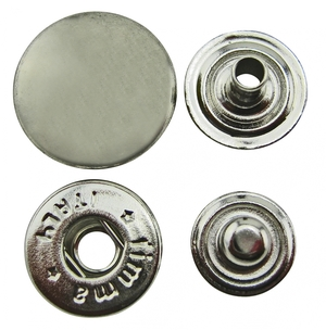 Tryckknapp 15 mm Nickel 10-pack
