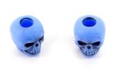 Skull bead Blue