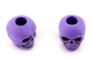 Skull bead Neon Purple