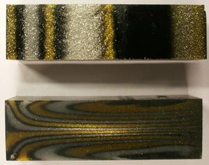 Polyester Glitter Guld/Silver/Svart