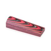 Laminerat Arctic Red/Black White shaded - block