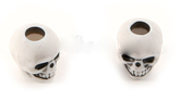 Skull bead White