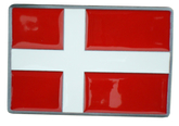 Bältesspänne Dansk flagga