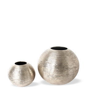 Crystal SIlver Vase M/L
