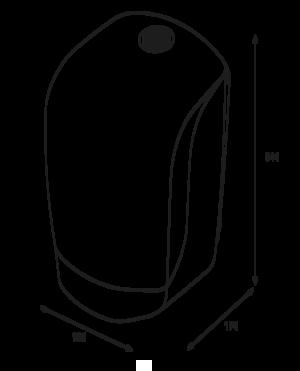 Katrin Inclusive Centerfeed S Dispenser - Black