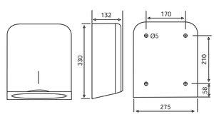 Katrin Hand Towel M Dispenser - Stainless Steel