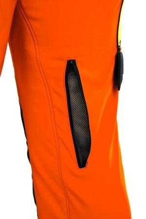Gladiator ventilation - sågskyddsbyxa - Orange EN 471
