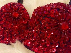 Crystal Bra - Röd