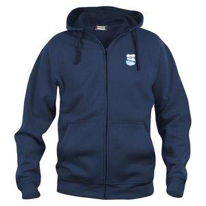 Hoodjacka Basic Full Zip Grunden BOIS, marinblå
