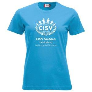 T-shirt CISV Helsingborg, bomull, turkos