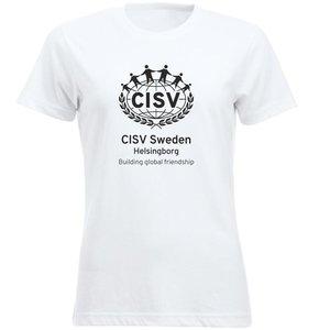 T-shirt CISV Helsingborg, bomull, vit