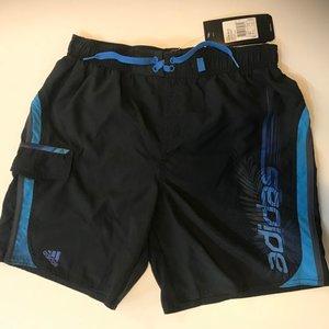 Badshorts Adidas Lin, marinblå