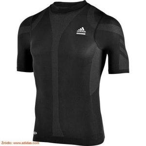 Kompressionströja Adidas Techfit , kort ärm, herr, svart, 644217