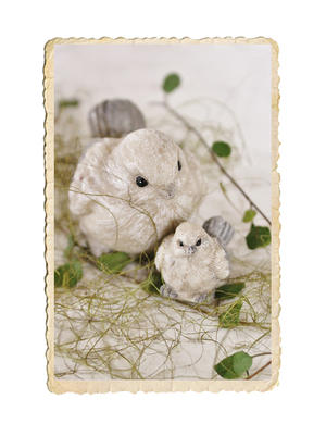 Påse med olivgrön sisal