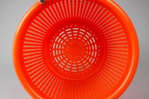 Plastic Basket, 44 Liter, Orange