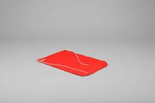 Flag, Dacron, 35x50 cm, Red