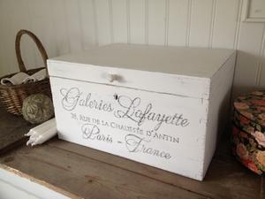 Stort träskrin Galeries Lafayette