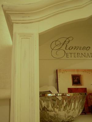 Shabby chic bokhylla Romeo & Juliet - Eternal Love