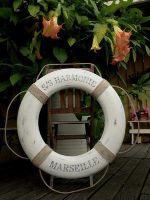 Handmålad livboj shabby chic 72 cm S/S Harmonie Marseille