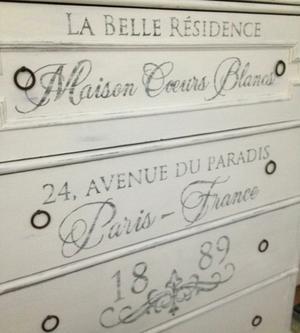 Ljuvlig gammal byrå shabby chic Maison Coeurs Blancs