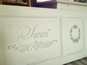 Headboard shabby chic country vintage Sweet Dreams