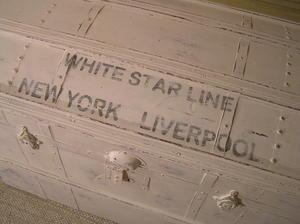 Amerikakoffert kista White Star Line