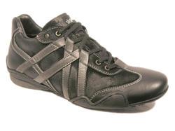 Herr-sko i svart skinn