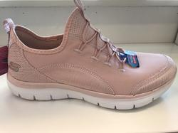 Skechers-sko rosa med resår, Memory foam innersula, Air Cooled.