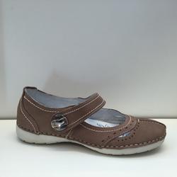 ballerina-sko i skinn. Mjuk och skön innersula.