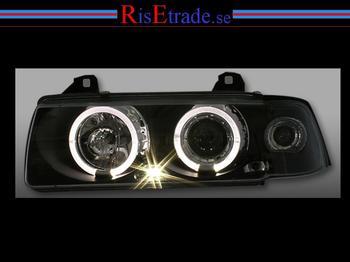 BMW E36 Angel Eyes svarta till sedan/ touring