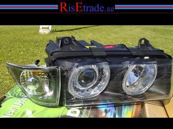 """BMW E36 Angel Eyes """"orginallook"""" svarta till coupé och cabriolet"""